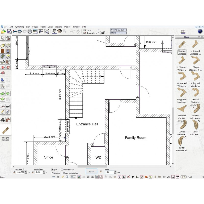 Professional floor planning software
