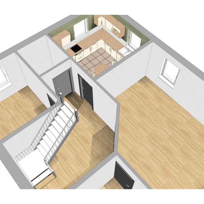 Floor plans in 3D view