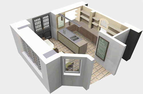 3D floor plan for a room